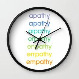 apathy/empathy 2 Wall Clock
