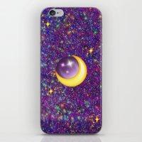 emoji iPhone & iPod Skins featuring Emoji Moon by jajoão
