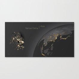 Yangtze Delta / Asia Canvas Print
