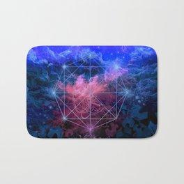 geometry space mandala Bath Mat