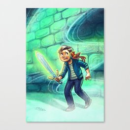 Boy with Sword Canvas Print