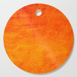 Orange Sunset Textured Acrylic Painting Cutting Board