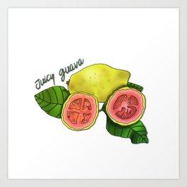 Juicy Guava Art Print