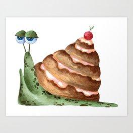 """Cinnamon snail"" Art Print"