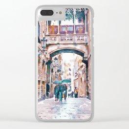 Carrer del Bisbe - Barcelona Clear iPhone Case