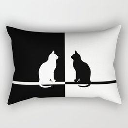 Black and White 81 Rectangular Pillow
