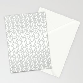 Gray Grey Mermaid Scales Sea Salt Stationery Cards
