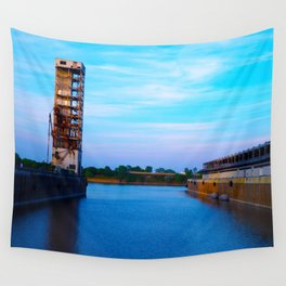 Dock in Old Port Wall Tapestry