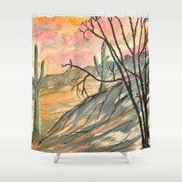 Southwestern Art Desert Painting Shower Curtain