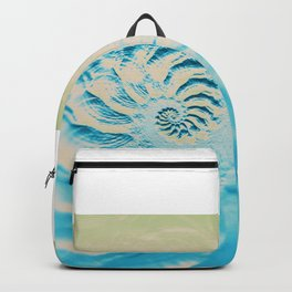 Fosil abstract beach fractal background Backpack