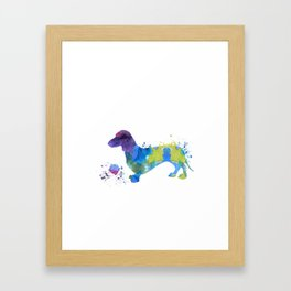 Colorful Dachshund Art Framed Art Print