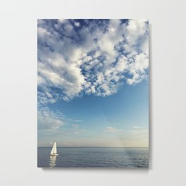 Sailboat on Lake Huron Metal Print