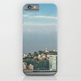 Guayaquil Panoramic Cityscape Skiline, Ecuador iPhone Case