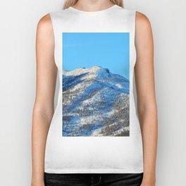 Winter Mountain Peak Biker Tank