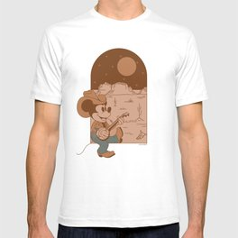 """""""Cowboy Mickey Mouse Adobe"""" by Allie Falcon T-shirt"""