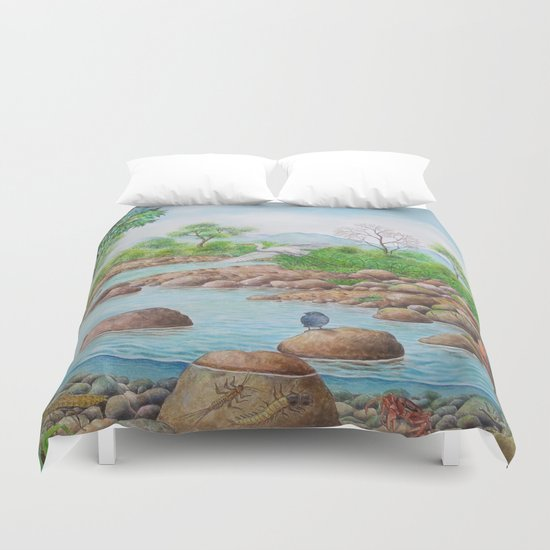 A Day of Forest(7). (the river ecosystem) Duvet Cover