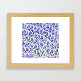 Blue disks Framed Art Print