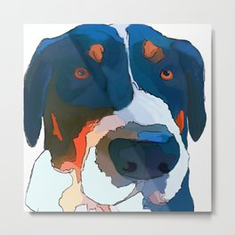 Greater Swiss Mountain Dog Art Metal Print
