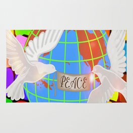 Doves For World Peace Rug