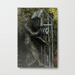 The Flax Spinner Metal Print