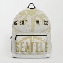 Seattle - Vintage Map and Location Backpack
