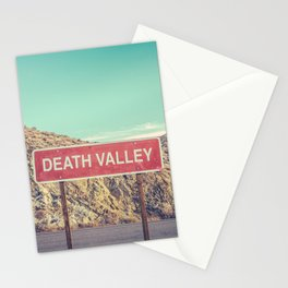 Death Valley Sign Stationery Cards