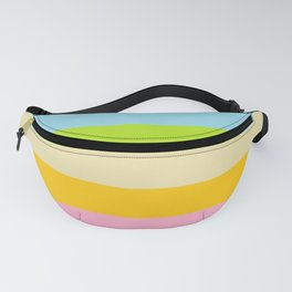Retro Vintage Inspired Simple Colored Stripes - Pastels Fanny Pack