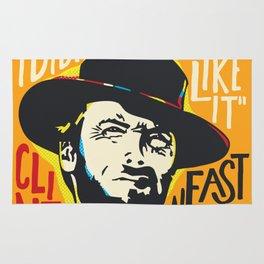 Clint Eastwood Pop Art Portrait Rug