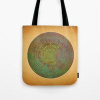 labyrinth Tote Bags featuring Labyrinth by Klara Acel