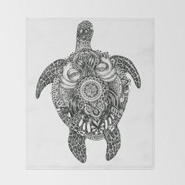Ink Turtle Throw Blanket