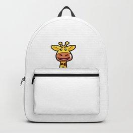 Cartoon Giraffe Giraff Happy Cute Present Son Backpack