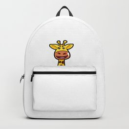 Cartoon Giraffe Giraff Happy Cute Present Son Backpack