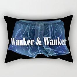 Wanker & Wanker Half Logo Rectangular Pillow