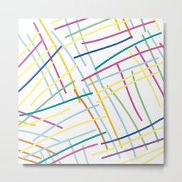 Confetti Spaghetti Metal Print