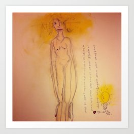 Lucille, The First Human Angel Art Print