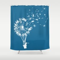 wind Shower Curtains featuring Going where the wind blows by Picomodi