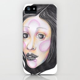 Blue and Purple with Wrapped Hair  iPhone Case