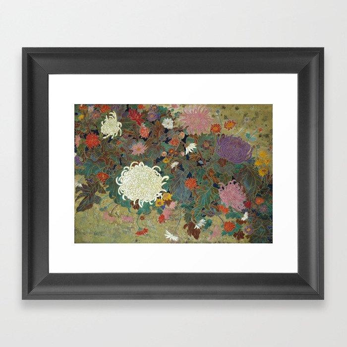 flower【Japanese painting】 Gerahmter Kunstdruck