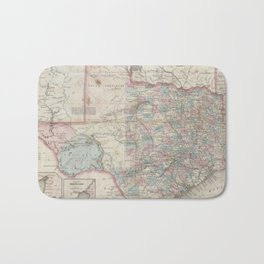 Vintage Map of Texas (1870) Bath Mat
