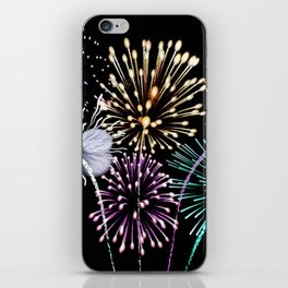 Bright firework texture iPhone Skin