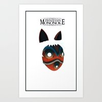 princess mononoke Art Prints featuring Mononoke by KoryDemers