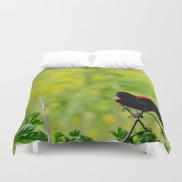 Stay away from here! Duvet Cover