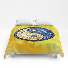 Yin Yang Gold Comforters