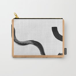 Refined black and gold simple abstract scandinavian artwork Carry-All Pouch