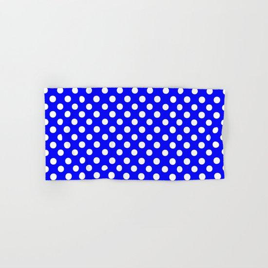 Polka Dots (White/Blue) Hand & Bath Towel