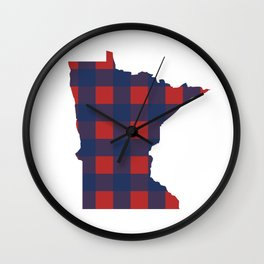 Minnesotans Love Baseball Wall Clock