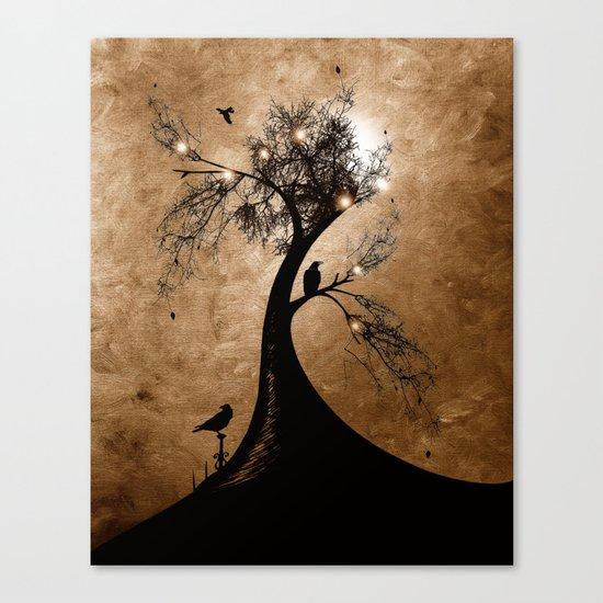 Raven christmas II - HOLIDAZE Canvas Print