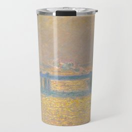 "Claude Monet ""Charing Cross Bridge"" (1900) Travel Mug"
