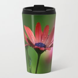 Red Osteospermum Travel Mug