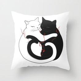 Blazing Cat Love Throw Pillow